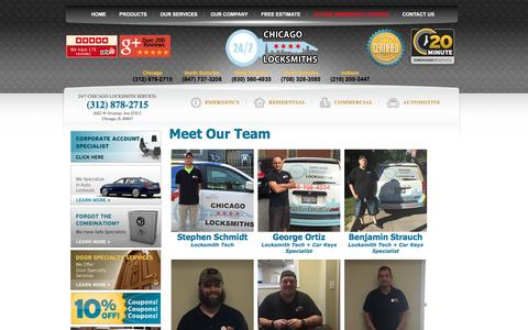 Screenshot of Team Page chicagolocksmiths.net - Chicago Locksmiths Our Team 312-878-2715 - Meet Chicago Locksmiths Team Behind The Best Locksmith Company in Chicago Area - captured Dec. 8, 2015