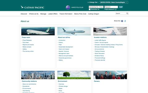 Screenshot of About Page cathaypacific.com - About us - Cathay Pacific - captured June 5, 2017