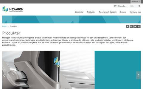 Screenshot of Products Page hexagonmi.com - Produkter | Hexagon Manufacturing Intelligence - captured Nov. 25, 2017