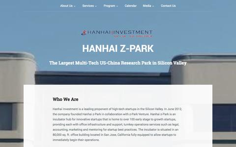 Screenshot of About Page hanhaiinvestment.com - Who We Are | Hanhai Z-PARK - captured Oct. 1, 2014