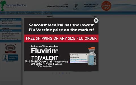 Screenshot of Home Page seacoastmedical.com - Seacoast Medical Commerce - captured Dec. 19, 2015