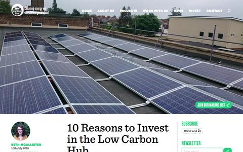 Screenshot of Press Page lowcarbonhub.org - Low Carbon Hub | Latest news - captured July 23, 2018