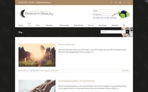 Screenshot of Blog believeinbeauty.nl - Blog - Believe in Beauty - captured July 6, 2017