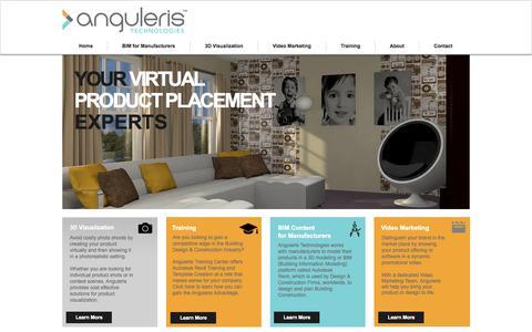 Screenshot of Home Page anguleris.com - anguleris - captured Oct. 1, 2014