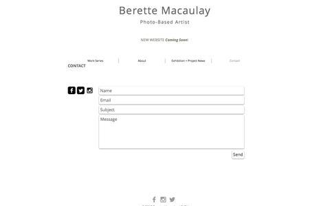 Screenshot of Contact Page sebiart.com - Contact - captured Dec. 1, 2016