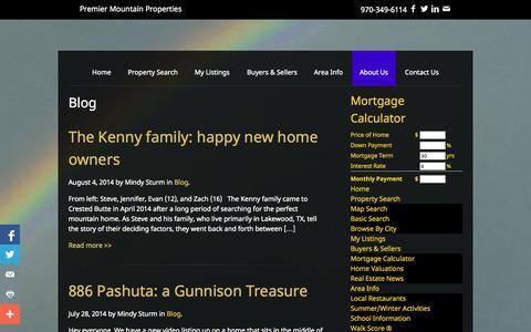 Screenshot of Blog premier-mountain-properties.com - Blog Archives - Premier Mountain Properties - captured Sept. 30, 2014