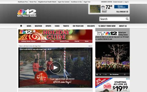 Screenshot of Maps & Directions Page nbc12.com - Holiday Homes, outdoor Christmas lights displays in Richmond, VA - NBC12 - WWBT - Richmond, VA News On Your Side - captured Nov. 30, 2016