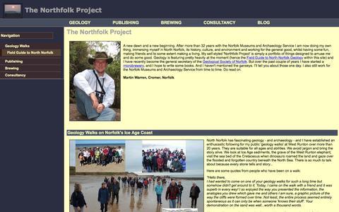 Screenshot of Home Page northfolk.org.uk - The Northfolk Project - Martin Warren's Home Page - captured June 9, 2016