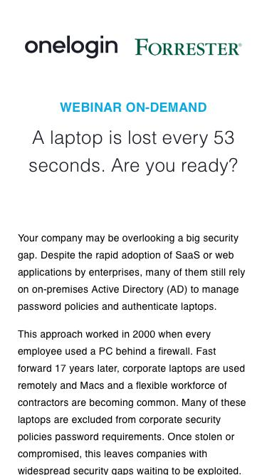 A laptop is lost every 53 seconds - Are you ready?