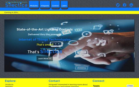 Screenshot of Home Page silectica.com - Silectica   Simple Lighting Controls - captured Oct. 9, 2014