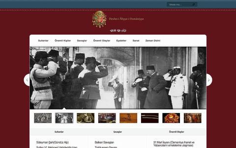 Screenshot of Home Page devletialiyyei.com - Devlet-i Âliyye-i Osmâniyye Osmanlı Devleti - captured Sept. 21, 2015