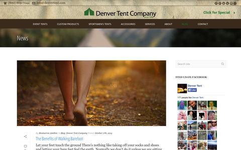 Screenshot of Blog Press Page denvertent.com - News   Denver Tent Company - Event, Sportsmen, & Custom Tents - captured Oct. 23, 2014