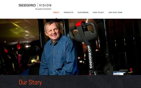 Screenshot of About Page seegrid.com - 3D Navigation | Technology| Vision Guided Vehicles | Seegrid - captured Dec. 4, 2015