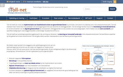 Screenshot of Home Page toll-net.be - Toll-net – Technologie Ondersteunend Levenslang Leren - captured June 17, 2017