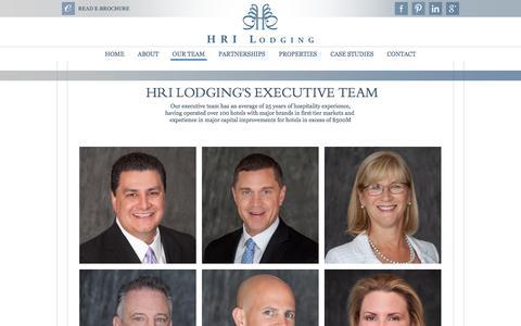 Screenshot of Team Page hrilodging.com - HRI Lodging | Our Team - captured July 10, 2016