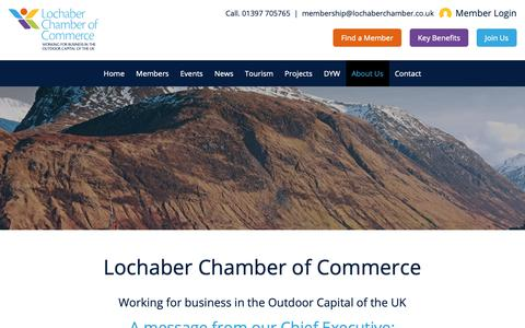 Screenshot of About Page lochaberchamber.co.uk - About Us - Lochaber Chamber of Commerce - captured Oct. 10, 2018