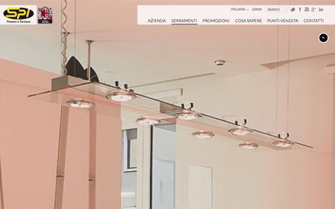 Screenshot of Trial Page spifinestre.it - TRIAL – Le finestre in alluminio-legno di SPI - captured Oct. 3, 2014