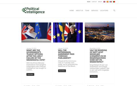 Screenshot of Press Page political-intelligence.com - News - Public Affairs, Consultancy and Lobbying - Political Intelligence - captured Jan. 23, 2019