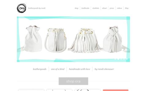 Screenshot of Home Page orabags.com - Ora Leather Bags | - captured Oct. 7, 2014