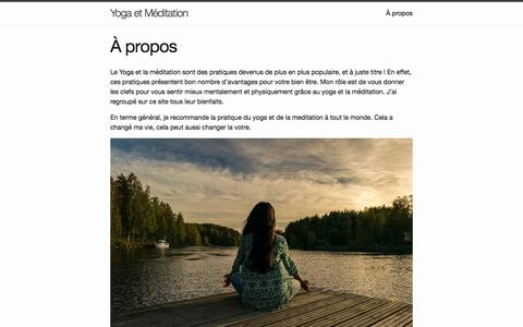 Screenshot of About Page meditation-yoga-daily-news.com - À propos - captured June 29, 2018