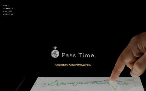 Screenshot of Home Page passtimesoftware.com - Pass Time - captured July 16, 2018