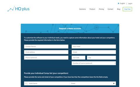 Screenshot of Trial Page hqplus.de - Free Trial - HQplus - captured Dec. 28, 2016