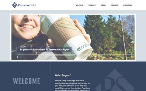 Screenshot of Home Page About Page Contact Page Products Page riverwoodsales.com - Riverwood Sales - Riverwood Sales - captured Sept. 30, 2014