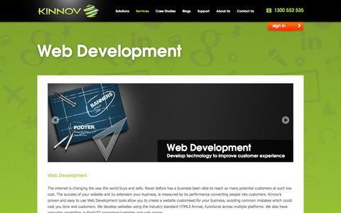 Screenshot of Services Page kinnov.com - Web Design And Development Melbourne | Ecommerce And Responsive Website | Kinnov Business Framework - captured Jan. 9, 2016