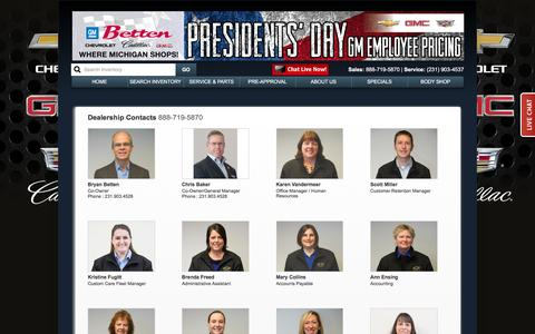 Screenshot of Team Page bettengm.com - Betten Chevrolet-Cadillac-GMC Staff - captured Feb. 7, 2016