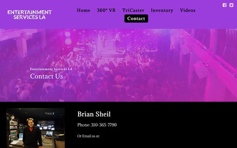 Screenshot of Contact Page entertainmentservicesla.com - Contact - captured July 19, 2018