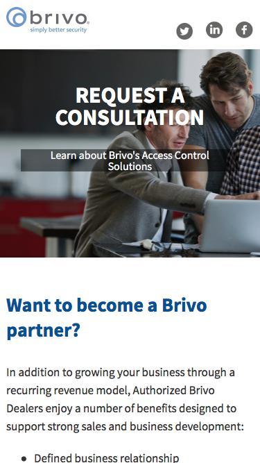 Request a Consultation | Become a Brivo Dealer