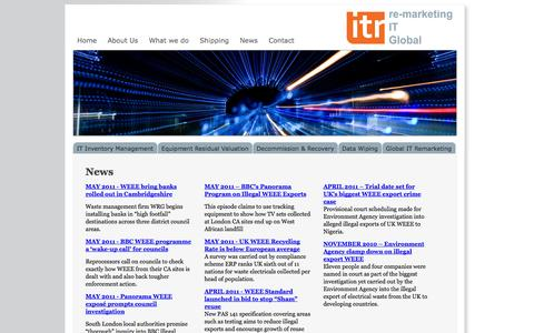 Screenshot of Press Page itr-ltd.com - IT News, Data Destruction laws, WEEE Compliancy, Recycling IT Equipment - Based in Berkshire - captured Sept. 30, 2014