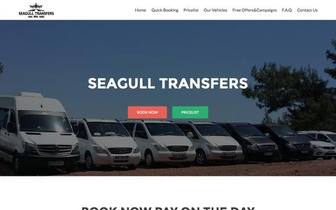 Screenshot of Home Page dalamantaxitransfers.com - Cheap Private Dalaman Airport Transfers - Seagull Transfers - captured Sept. 11, 2015