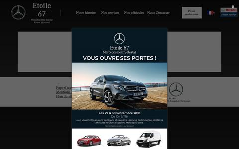 Screenshot of Contact Page etoile67.com - Etoile 67 - captured Sept. 28, 2018