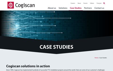Screenshot of Case Studies Page cogiscan.com - Track Trace Control Case Studies | Cogiscan - captured May 19, 2017