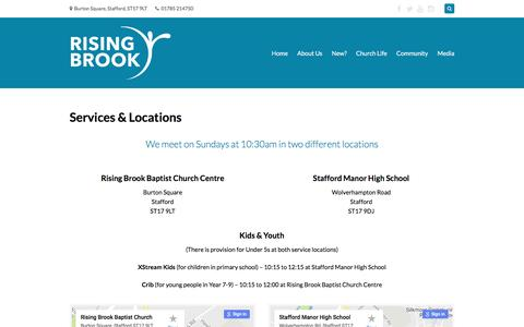 Screenshot of Services Page risingbrook.org - Services & Locations — Rising Brook - captured Nov. 30, 2016