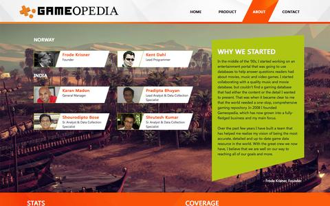 Screenshot of About Page gameopedia.com - About Us | Gameopedia - captured Oct. 2, 2014