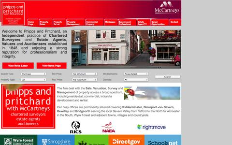 Screenshot of Home Page phippsandpritchard.co.uk - Sales and Rentals Phipps & Pritchard Kidderminster Stourport Bewdley Bridgnorth - captured Oct. 2, 2014