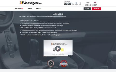 Screenshot of About Page exleasingcar.com - Car auctions   Exleasingcar   Auto from Europe - captured Dec. 6, 2015