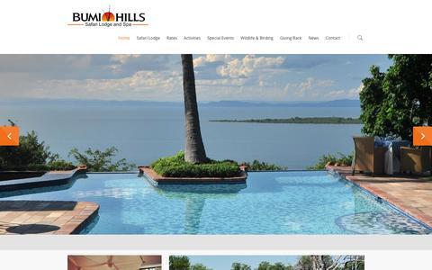 Screenshot of Home Page bumihills.com - Bumi Hills - captured Feb. 8, 2016