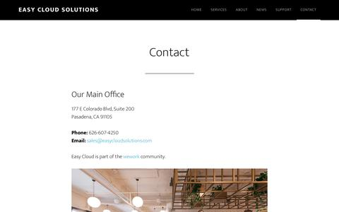 Screenshot of Contact Page easycloudsolutions.com - Contact - Easy Cloud Solutions - captured July 15, 2018