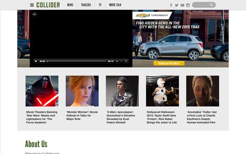 Screenshot of About Page collider.com - About Us | - captured Nov. 3, 2015