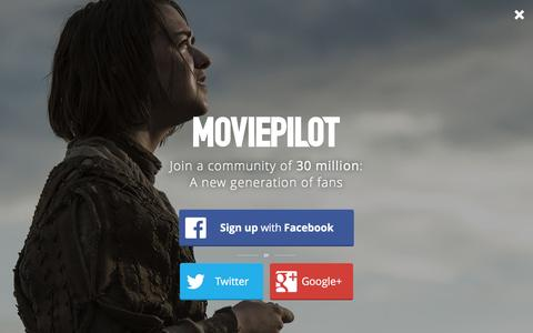 Screenshot of Login Page moviepilot.com - A New Generation of Fans | moviepilot.com - captured Feb. 7, 2016