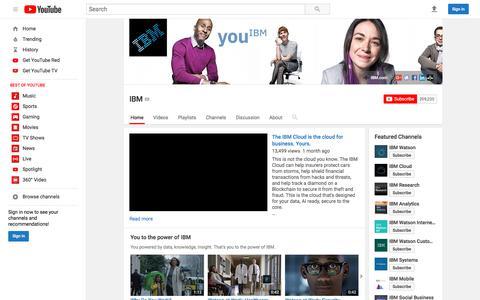 IBM  - YouTube