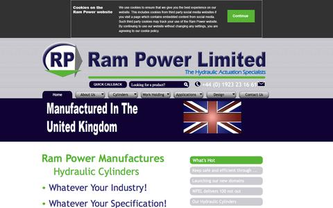 Screenshot of Home Page Privacy Page rampower.co.uk - Rampower: Hydraulic Cylinders | Hydraulic Rams - captured Feb. 23, 2016