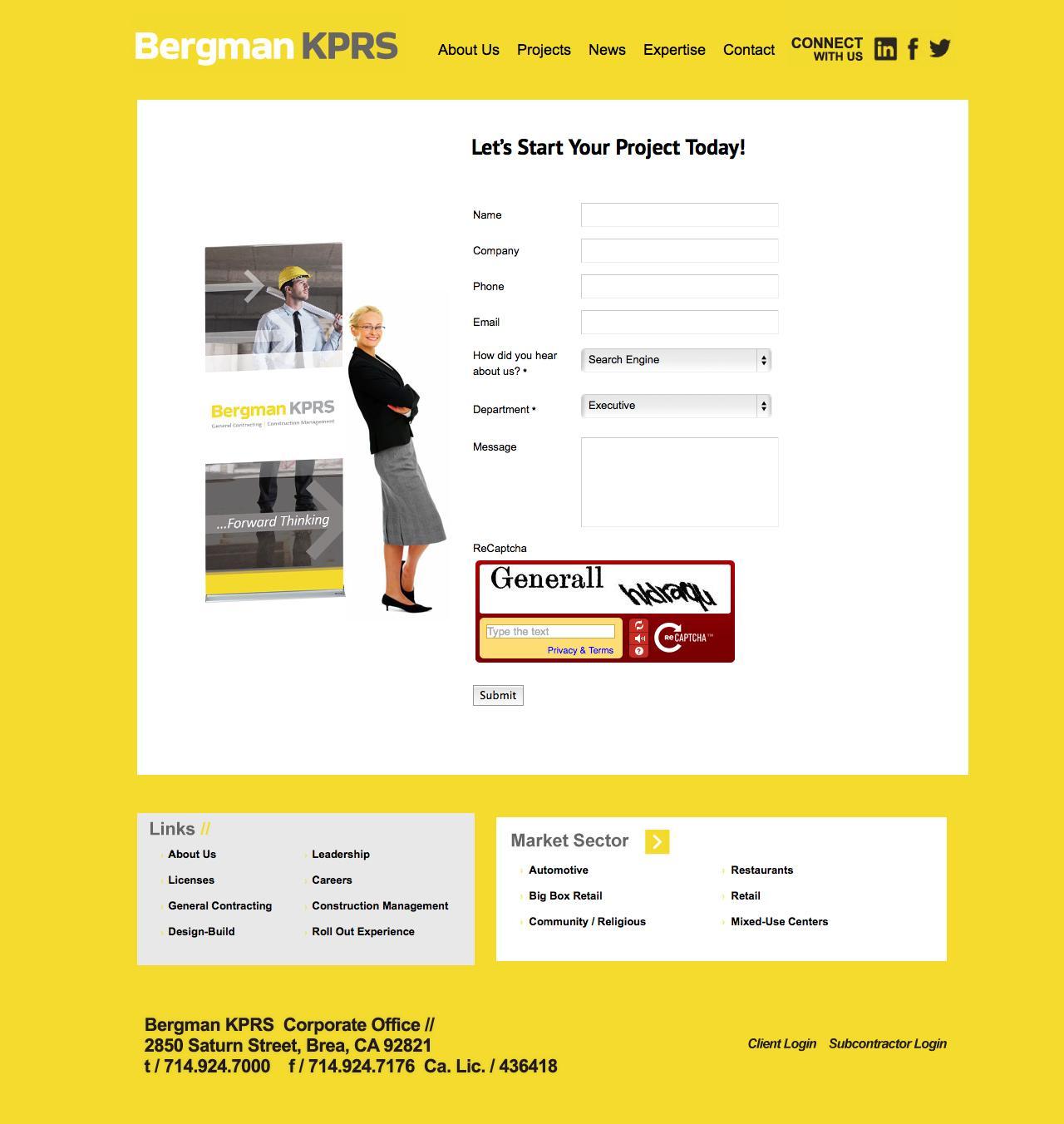 Screenshot of bergmankprs.com - Contact Us - captured Sept. 30, 2014