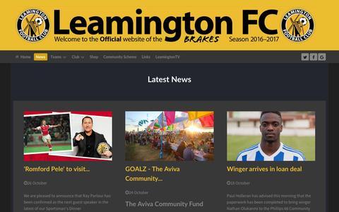 Screenshot of Press Page leamingtonfc.co.uk - LeamingtonFC.co.uk - news - captured Nov. 5, 2016