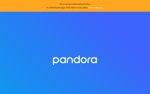 Screenshot of Signup Page pandora.com - Pandora Internet Radio - Listen to Free Music You'll Love - captured Feb. 11, 2018