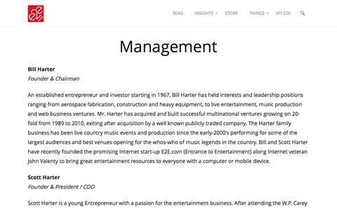 Screenshot of Team Page e2e.com - Management | e2e.com - captured July 9, 2016