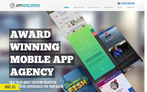 Screenshot of Home Page the-app-developers.co.uk - App Developers | App Development for Android | app developers iPhone - captured July 16, 2015